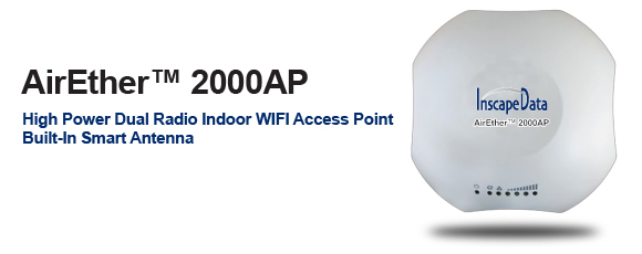 AirEther 2000AP High Power Dual Radio Indoor WIFI Access Point Built In Smart Antenna